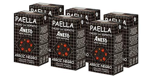 Aneto 100% Natural - Caldo para Arroz Negro - caja de 6 unidades