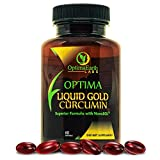 OptimaEarth Liquid Gold Turmeric Curcumin Supplement w/NovaSOL - Superior Bioavailability and Potency in an Easy to Swallow SoftGel - Rapid Lasting Relief from Joint Pain and Inflammation