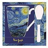 VAOFO Van Gogh 523443 Tazza con Cucchiaio, Modello Notte Stellata