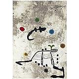 zkpzk Joan Miro Personatge Art Print Poster Pinturas Al Óleo Lienzo para Carteles De Impresión De A...