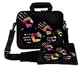 LUXBURG® 15,6 Zoll Schultertasche Notebooktasche Laptoptasche Tasche mit Tragegurt aus Neopren Plus Free Mouspad! Für Apple, Acer, Asus, Chromebook, Dell, HP, Lenovo, Samsung, Sony etc Laptop