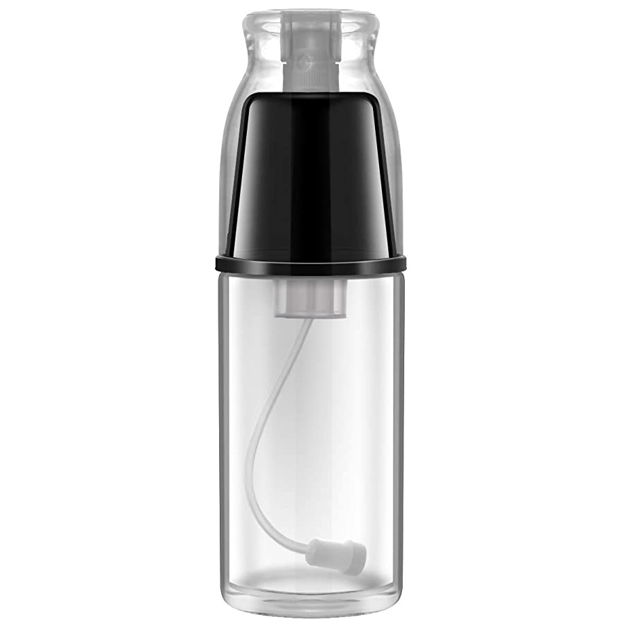 Oil Mister for Cooking Olive Oil Sprayer - ONE PIX Premium Glass Bottle with Specialized Clog-Free Filter - 100% Refillable and Non-Aerosol Dispenser Black