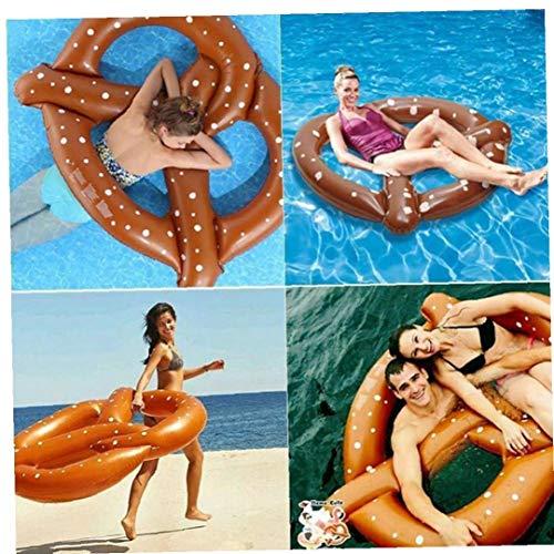 Ohomr Flotador Pretzel Clircle Flotador para la natación Inflable Ruedas para Adultos Cuentos para niños de 140 cm de flotación Piscina