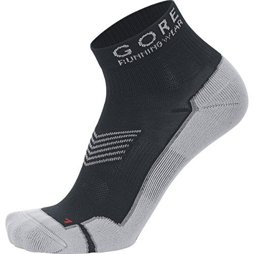 Gore Running Wear Calcetines tobilleros para correr, Hombre, Anatómicos, GORE Selected Fabrics, ESSENTIAL, Talla 41-43, Negro, FEESSE990004