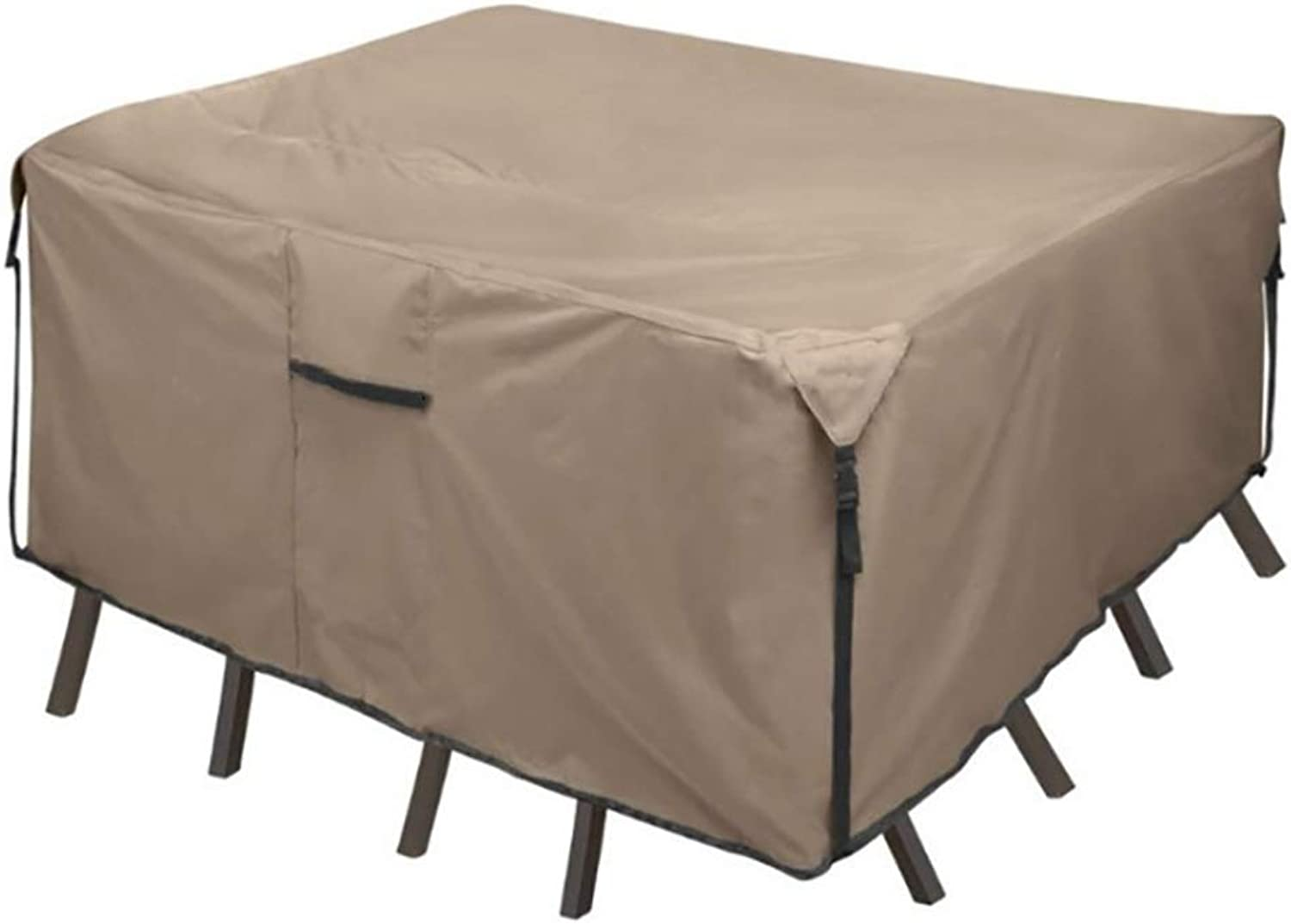 Patio Furniture Set Covers Patio Waterproof Furniture Set Cover, Heavy Duty Garden Square Table and Chair Predector, XX-Large Chair Sofa Cover