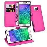 Cadorabo Funda Libro para Samsung Galaxy Alpha en Rosa Cereza - Cubierta Proteccíon con Cierre Magnético, Tarjetero y Función de Suporte - Etui Case Cover Carcasa
