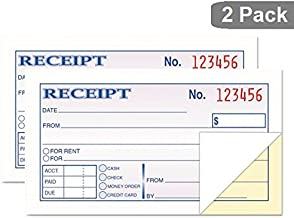 1InTheOffice Money and Rent Receipt, 2-3/4 x 5-3/8 Inches, 2-Parts, Carbonless, White/Canary, 50 Sets per Book (2 Books)
