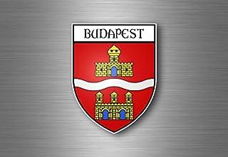 Akacha Sticker Adesivi Adesivo Stemma Etichetta Bandiera Auto Budapest Ungheria