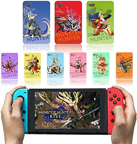 Tarjeta De Etiqueta NFC Monster Hunter Rise De 9 Piezas, Compatible con Switch/Switch Lite/New 3DS, Tamaño De Tarjeta De Crédito