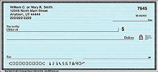 The Bradford Exchange Personal Checks | Top Tear Printed Personal Checks with Classic Distinction and Simplicity | Blue Safety | 1 Box Checks Personal Singles / 120 Checks (1 Scene)
