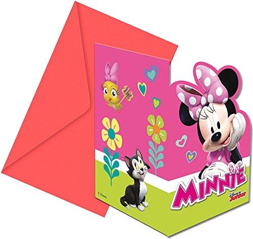 12-tlg.Einladungskarten-Set * MINNIE MOUSE - HAPPY HELPERS * für Kindergeburtstag und Mottoparty // Disney Einladungen Minni Maus