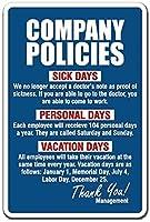 会社方針サイン仕事仕事規則仕事従業員休暇