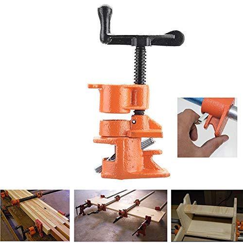 Domeilleur Juego de abrazaderas para tubería de madera de 1/2 3/4 pulgadas de hierro fundido, herramienta de carpintero de carpintería de alta resistencia
