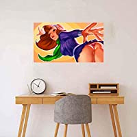 WKAQM セクシーなヌードの女性の壁の芸術セクシーなアニメの写真寝室の壁の装飾の絵画セクシーな裸の女の子のポスター18-Rキャンバスプリント大人のエロポスター40×70cmフレームレス L2K-073