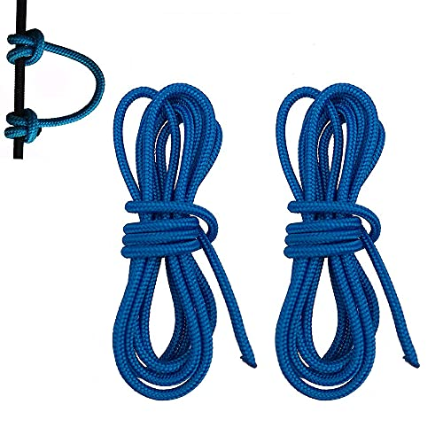 HRCHCG 39 inch Compound Bow D Loop Rope Bowstring Release D Ring Buckle Archery U Nocking Rope Release Aids Accessories (Pack of 2 Blue)