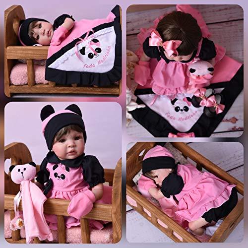 Bebe Reborn Menina Princesa Boneca Poa Rosa + Bolsa Maternidade