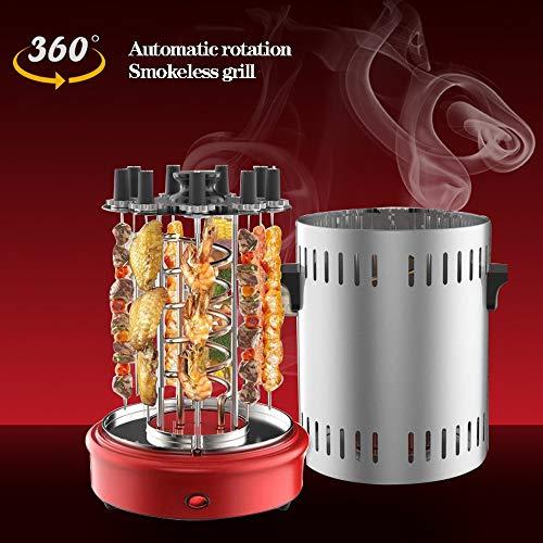 Innen- und Außengrill Vertikalgrill • Rauchfreies automatisches fettfreies Rotationsgrillen