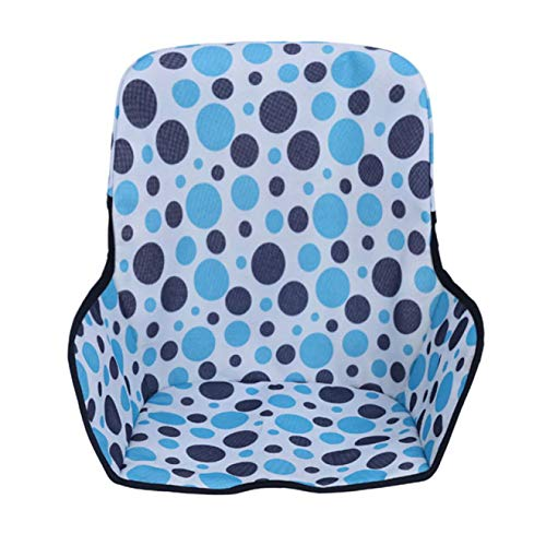 Marlon Nancy Durable Baby Kids Highchair Insert Infant Toddler Dining Chair Seat Cushion Foldable Waterproof (Blue)(None Blue Circle Youbeiya)