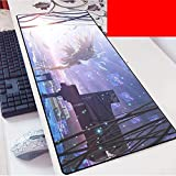 Gaming Mouse Pad Large Mouse Mat Angel Beats Beats Game Keyboard Mat Cafe Mat Extended Mousepad for computadora de Escritorio PC Mouse Pad (Color : D, Size : 900 * 400 * 3mm)