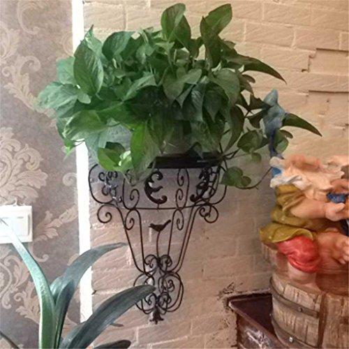 YAN ZHEN Style européen fer fleur étagères pendaison mur plaque de fer pot de fleurs rack intérieur et extérieur étagères usine / décoration murale Etagère de Fleur ( couleur : C )