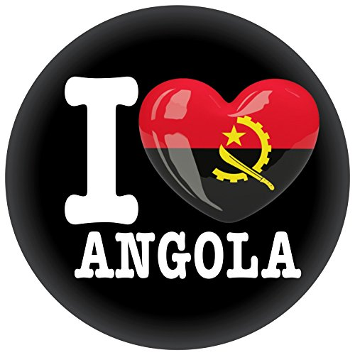 FanShirts4u Button/Badge/Pin - I Love ANGOLA Fahne Flagge (I Love Angola)