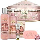 Coffret Cadeau Femme 4 Produits Bain et Soin 1 Gel Douche 250ml,1 Crème Mains 25ml,1 savon 100g,1...