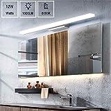 Yafido LED Spiegelleuchte Badleuchte Badlampe Spiegellampe 50CM Kaltweiß Badezimmer Lampe