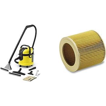 Karcher SE 4002 - Lava-aspiradora con cable, 1400 W y 4+4 litros de depósito de agua limpia/sucia + Filtro de cartucho WD2-WD3 (6.414-552.0): Amazon.es: Hogar
