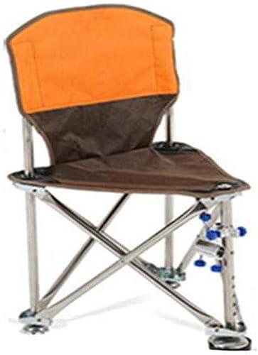 Kaiyitong Chaise Pliante, 2019 Nouveau Tabouret Pliant portable en Acier Inoxydable Triangle Chaise Mazar Tabouret de pêche en Plein air, Orange Durable