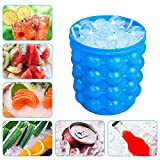 EXSESON Silicone Ice Cube Maker Bucket Revolutionary Space Saving Ice-Ball Makers for Home, Party and Picnic