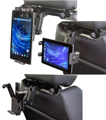 Navitech Schwarze Tablet PC Auto Kopfstützen / Rücksitz Erweiterbare Feste Griff Montierung Für Das Archos 101 G9 Turbo