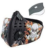 SKYSPER Masque de Sport en Nylon Protection Masque du Vélo Respiratoire Anti-Poussière Anti-Pollution avec PM2.5 Filtre de...