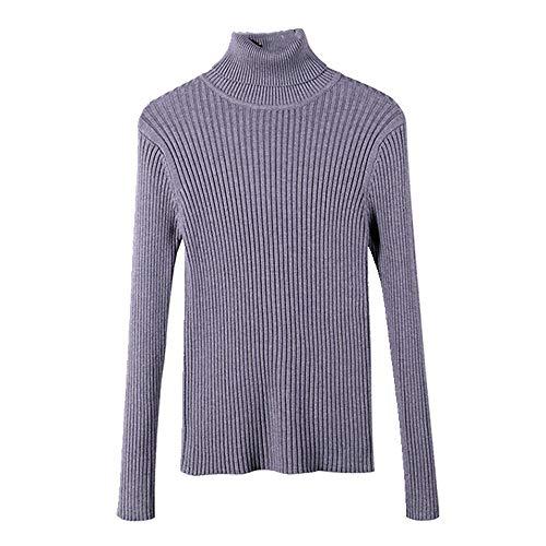 N\P Suéter de mujer de cuello alto con capa base para mujer en otoño e invierno