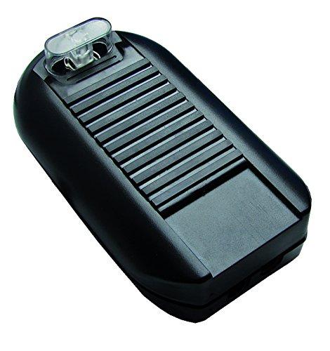 Tibelec 571820 - Interruptor de pie con interruptor color negro