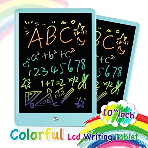 Orsen LCD Writing Tablet 10 Inch,Colorful Magnetic Doodle Board Drawing Board,Erasable Reusable Writing Pad, Educational Writing Board for Kids and Adults at Home, School and Office(Blue)