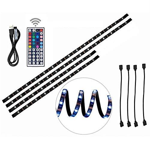 Tiras LED de Luz TV SMD 5050 RGB 20 Modo de Color IP65 Impermeable USB para 40 A 60 Pulgadas HDTV, Monitor De PC,Decoración del Hogar(78inch)