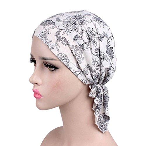 iBaste Turban Damen Kappe Muslime Kopftuch für Haarausfall Krebs Chemo Kopfbedeckung Kopftuch Set - 2