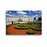 Premium Textil-Leinwand 45 cm x 30 cm quer Schloss