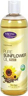 Life-Flo Pure Sunflower Oil, Certified Organic | Complexion & Body Moisturizer & Massage Oil | 16 Fl Oz