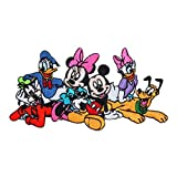Disney Character Mickey Mouse and Friends Group Embroidered Iron On Movie Patch DS-89