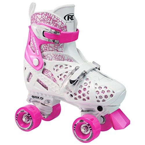 Roller Derby Kinder Skates Trac Start Girls Verstellbarer, Weiß/Rosa, 34-36, 1971 - L