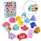 Upgrow Baby Badewannenspielzeug Kinder Badewannen Wasserspiel für Kinder, Hochwertiges Spielzeug für Badewanne, Geschenke für Babys, Badewannenspielzeug 15 Stücke