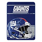 Northwest NFL New York Giants 46x60 Micro Raschel Run Design Rolled Blanket, Team Colors, One Size (1NFL059050081RET)