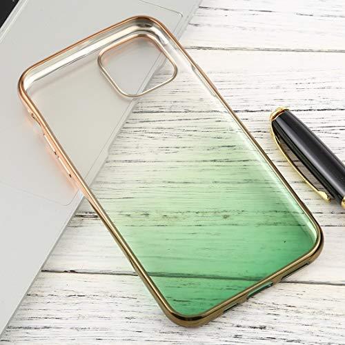Xyamzhnn Caja del teléfono for el iPhone 11 Pro MAX Transparente Gradiente TPU Anti-Gota y la Caja Protectora Impermeable del teléfono móvil (Color : Yellow)