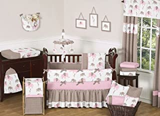 pink grey and brown nursery