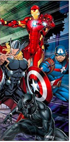 Toalla de playa para niños de Marvel Avengers de Disney , 100% poliéster , Secado rápido, ultra suave y grande 70x140 cm