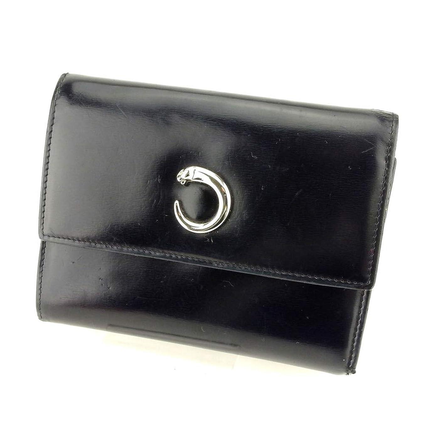 爪惑星修理可能[カルティエ] Cartier 三つ折り 財布 財布 レディース メンズ パンテール 中古 T9404