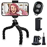 Aduro U-Stream Flex Phone Tripod Stand with Wireless Remote, Flexible Phone/GoPro/Camera Tripod for iPhone & Android (Works As A Selfie Stick)