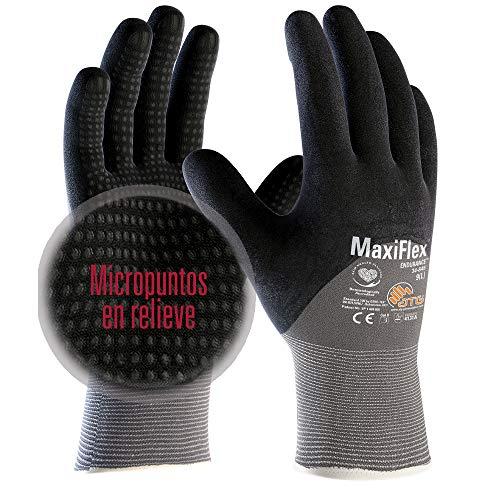 ATG 34-845 - Guante MaxiFlex Endurance, color gris/negro, talla 6