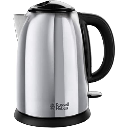 Russell Hobbs Bouilloire 1,7L, Ebullition Rapide, Marquage Tasses, Ouverture Facile - 23930-70 Victory